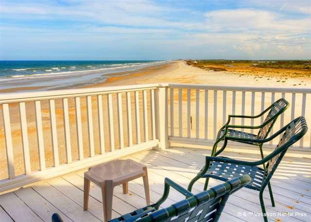 This could be your morning coffee break - Blue Water View Beach Front House, 4 bedrooms, Elevator, HD - Saint Augustine - rentals
