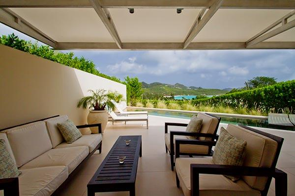 Beautiful spacious private villa on the hillside with ocean views WV ACE - Image 1 - Saint Jean - rentals