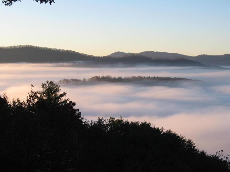 View off the porch and deck are spectacular and ever changing... - Above The Clouds Retreat w/Views/Free HBO/WiFi! - Murphy - rentals