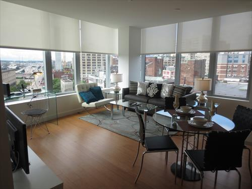 Living room - Radian 2BR w/WiFi, Central Boston - Boston - rentals