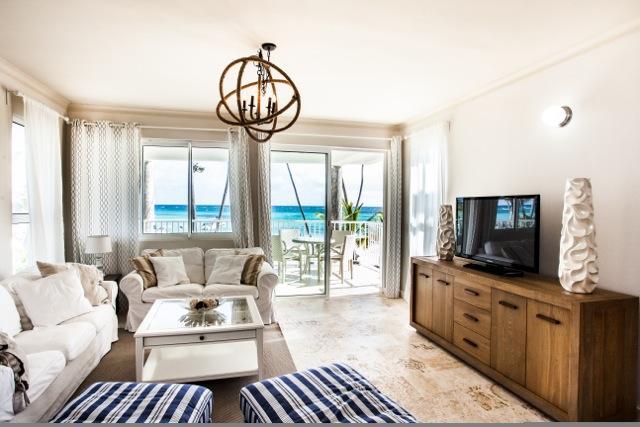 Stunning Ocean Front Line Condo Playa Turquesa! - Image 1 - Punta Cana - rentals