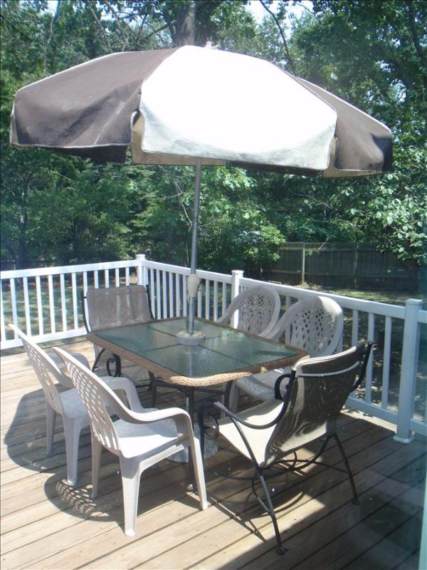 Deck & table - Quiet 3BR Holland House - Near Holland State Park & Tunnel Park (Lake Michigan Beaches) *Remodeled - Holland - rentals