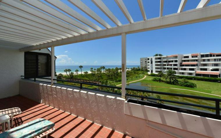 View from the Unit - Player's Club 305 - Longboat Key - rentals