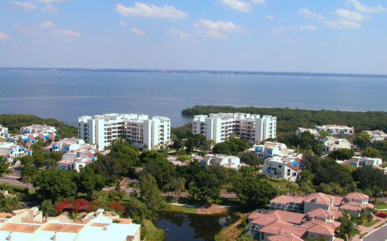 From the Air - Fairway Bay 144 - Longboat Key - rentals
