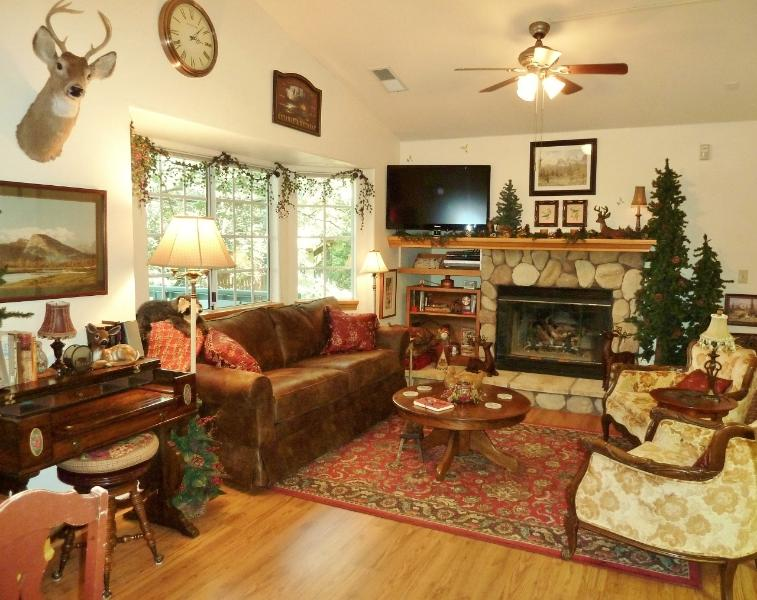 Living Room - Mountain Cabin Mini Lodge in Lake Arrowhead - Lake Arrowhead - rentals