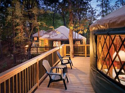 Exterior view of yurts - Luxury Yurt (2-Bed) at Shenandoah Crossing - Gordonsville - rentals