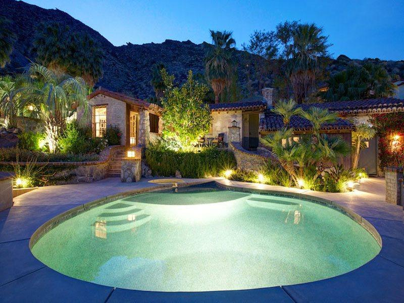Guest House 143 - Two Bedroom  and Pool  Spa at Night - Colony 29 Resort - 3 Bedroom Group - Palm Springs - rentals