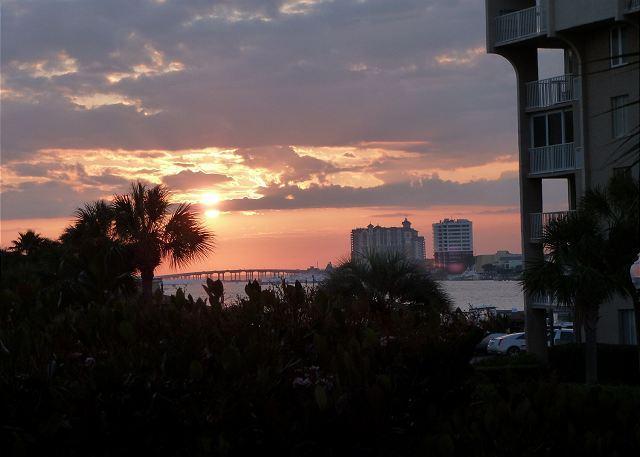 View from condo - Harborfront Condo Overlooking the Sparkling Pool in Destin, Florida - Destin - rentals
