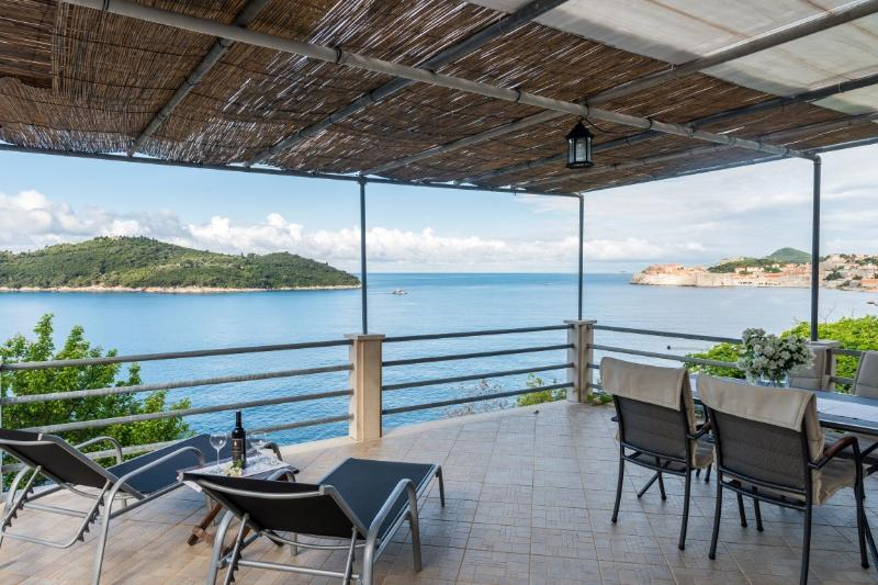 waterfront terrace view - Blue Infinity - Dubrovnik - rentals