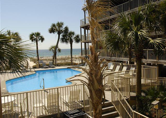 Pool Area - Sandpiper 4A~Family Condo with Side View of the Gulf ~Bender Vacation Rentals - Gulf Shores - rentals