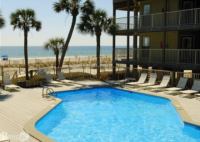 Pool Area - Sandpiper 6C ~ Nicely Decorated Condo with Gulf views~Bender Vacation Rentals - Gulf Shores - rentals