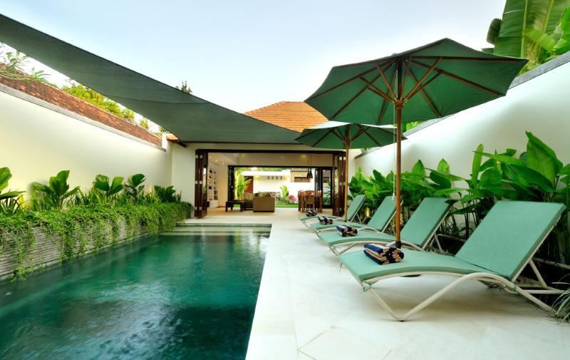 Pool deck - New family friendly 3-Bed Villa with Private Pool - Sanur - rentals