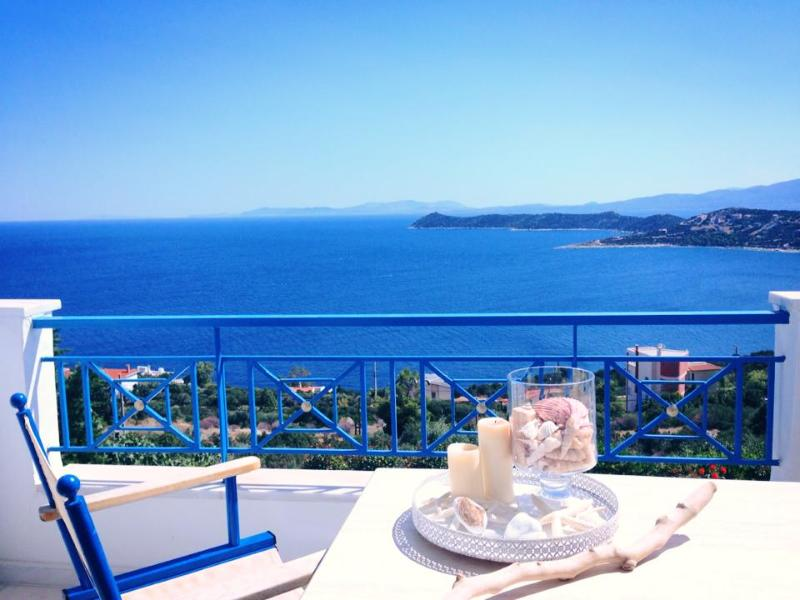 View from living room veranda - Luxury Athens villa,  swimming pool, by the sea - Attica - rentals