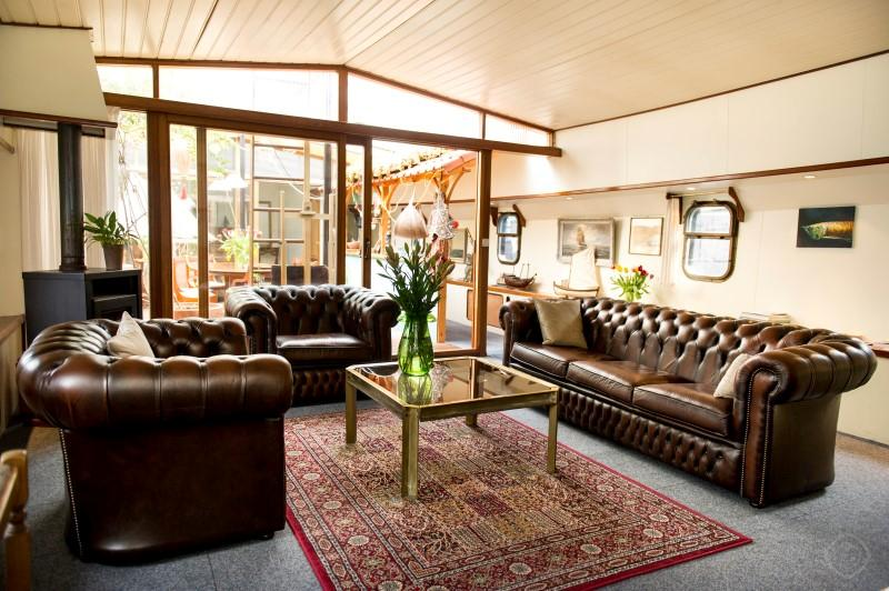 Living Room Over View Captainsplace Houseboat Amsterdam - Captainsplace houseboat Amsterdam - Amsterdam - rentals