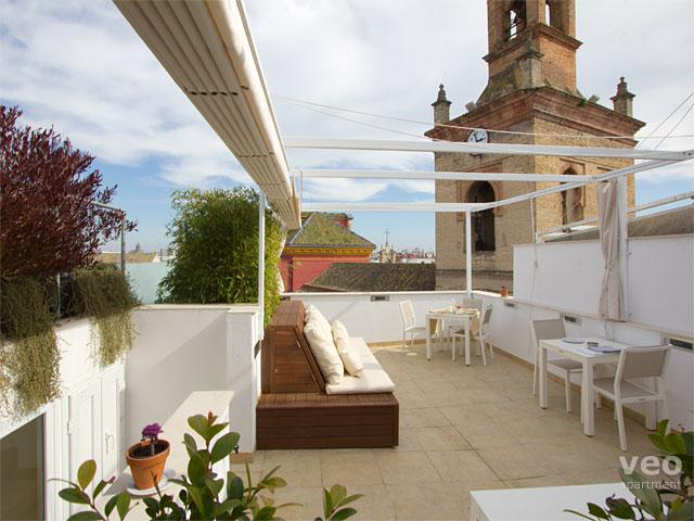 Shared terrace with garden furniture. - San Lorenzo Penthouse. 2 bedrooms with terrace - Seville - rentals