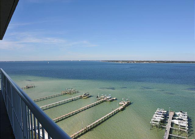 balcony view - Gorgeous views at Tristan Towers; 3br! - Pensacola Beach - rentals