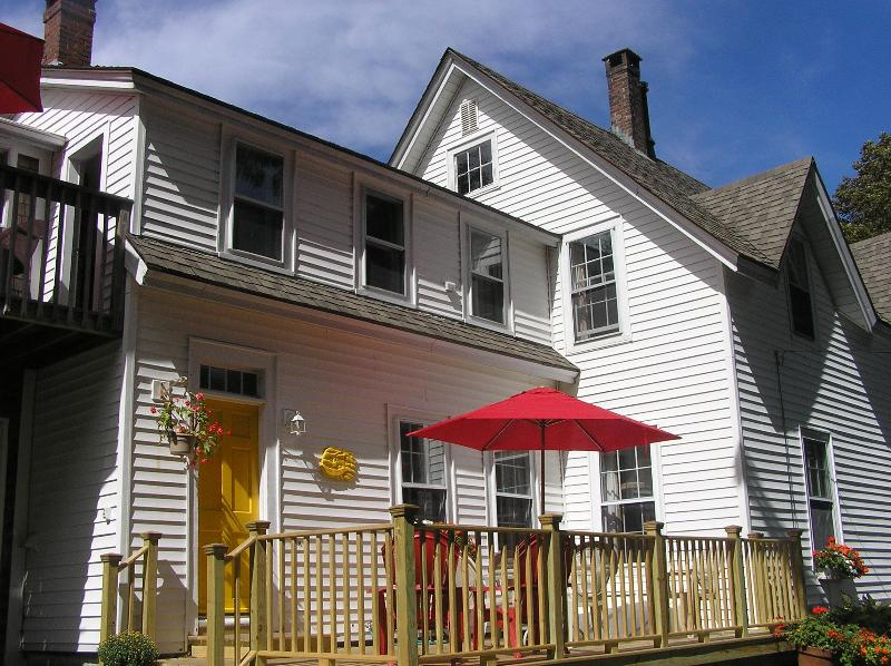 A view of the house and deck - Luxury 5* Apartment in 1862 Sea Captain's House - Rockland - rentals