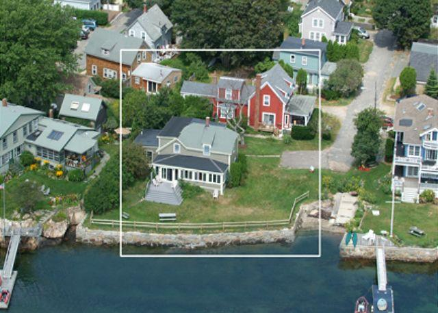 Exterior Aerial (Grey House) - Wonson Cove House: Rocky Neck, Eastern Point and Beaches - Gloucester - rentals