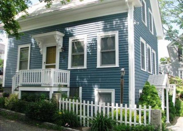 Front exterior - Rockport Village House: 3 floors of bright and sunny living space - Rockport - rentals