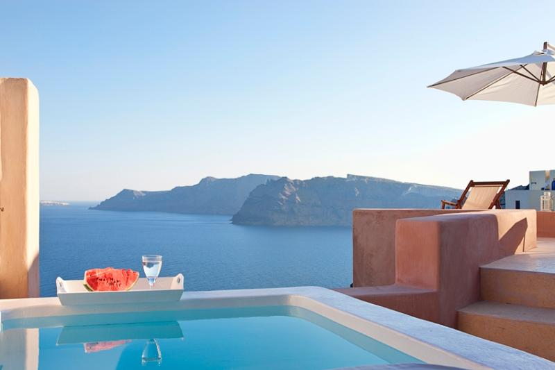 Galatia Villa- Villa in Oia with sunset view - Image 1 - Oia - rentals