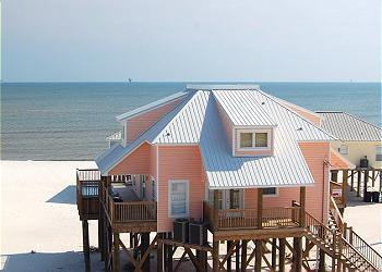 Kowabunga! Large Gulf-side Beach House with Pool, Game Room, Crow's Nest - Image 1 - Dauphin Island - rentals