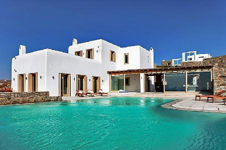 Sunset Delight perched above the Sea with scenic views & serene infinity pool - Image 1 - Mykonos - rentals