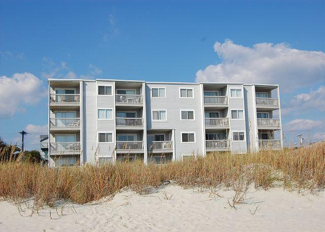 Xanadu I Building (from beach) - Spacious 3 bedroom, 3 bath direct oceanfront condo. - North Myrtle Beach - rentals