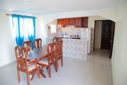 Kichen and Dining area - 2-Bedroom, 2 Bathroom Apartment  with Seaview - Santo Domingo - rentals