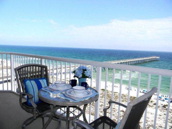 Summerwind Resort 801C Balcony View - Summerwind Resort on Navarre Beach 801C - Navarre - rentals