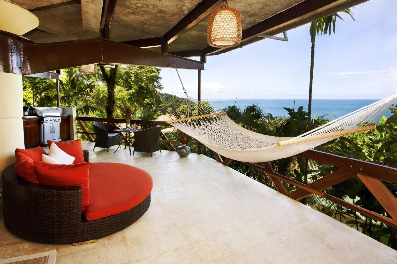 Relax in a hammock or oversized chair overlooking the Pacific Ocean - Oceanview Villa for Couples - Tulemar Beach - Manuel Antonio National Park - rentals