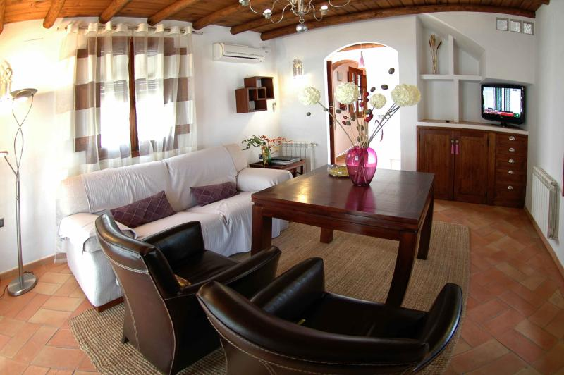 Salón con chimenea - Casa Rural La Rabá - Sanlucar del Guadiana - rentals