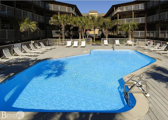 Pool Area - Sandpiper 11A ~ Beachside Condo Palm Trees Poolside ~Bender Vacation Rentals - Gulf Shores - rentals