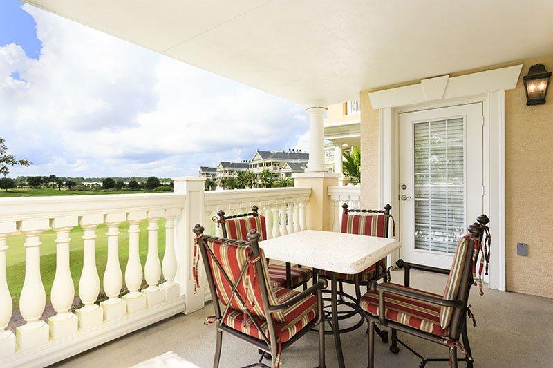 Dine outside with the outside table that comfortably seats 4 - Luxury Life | Luxury 3 Bed Condo in Reunion Resort, Located on the 2nd Floor Corner in Centre Court Ridge - Reunion - rentals