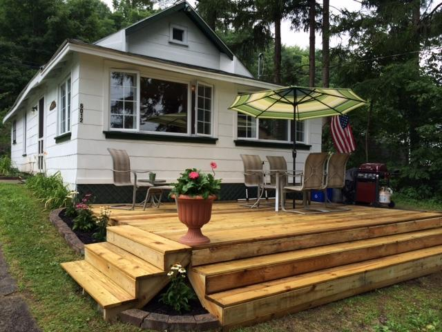 new deck - Honeoye Lake 3 season rental - Honeoye Lake - rentals