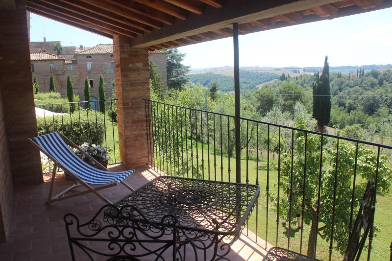 Private Terrace off of Bedroom - Villa Ferranino Townhouses-Duccio - San Giovanni d'Asso - rentals
