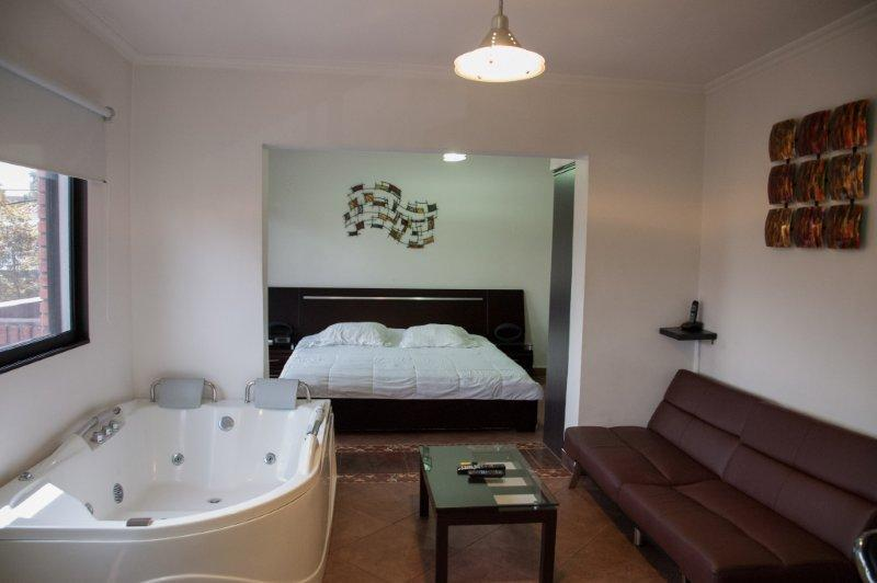 Executive studio middle of everything hot tub, AC - Image 1 - Medellin - rentals