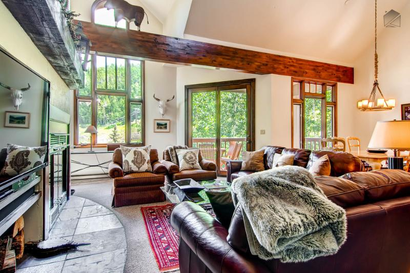 High vaulted ceilings, lots of windows, and an open layout give the space a very breathable atmosphere. - What's cooler than being cool? Staying here - Ski in/out, close to Gondola - Cour Contento at Kayenta Legend House - Mountain Village - rentals