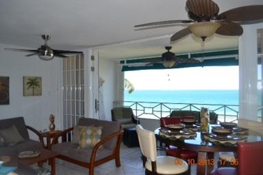 Another picture of open space of living room & dining room. - Welcome To Paradise At Luquillo Beach With Breathtaking Oceanfront Views. - Luquillo - rentals