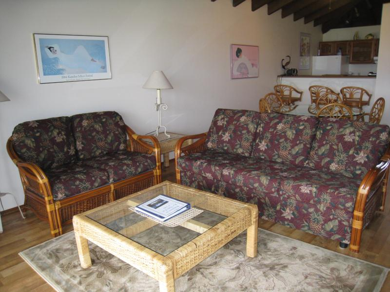 Living Room area - Ke Nani Kai 242 Ocean view Condo on West Molokai - Maunaloa - rentals