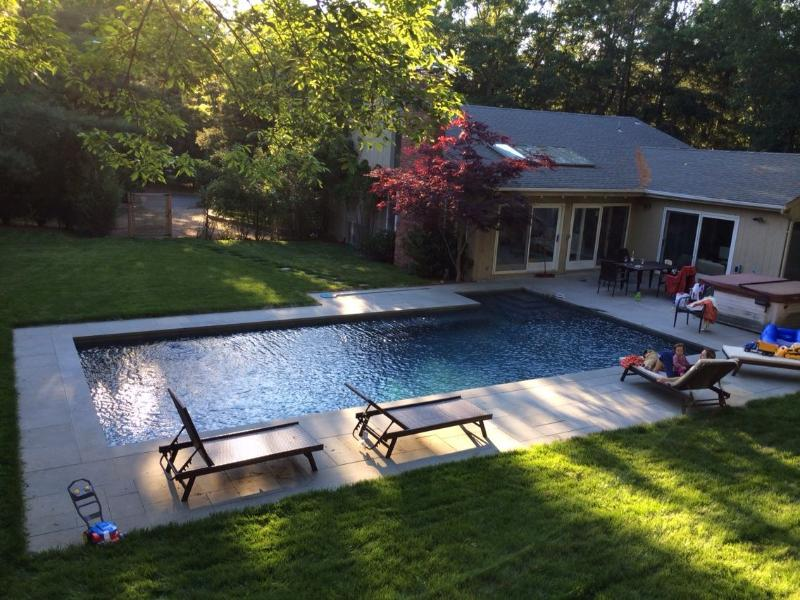 Our backyard - Contemporary Hamptons - East Hampton - rentals
