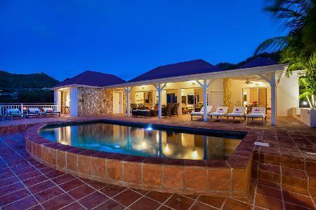 Fabulous Villa Kir Royal features a tropical garden, terrace and heated jacuzzi - Image 1 - Saint Jean - rentals