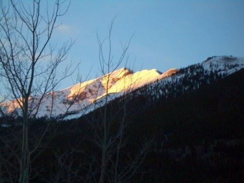 View from living room - Mountain views, pool, 4 hot tubs, sauna, ski all 4 - Frisco - rentals
