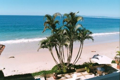 Balcony View of the Beach Looking West - Luxury Beachfront Condo with 2 King Suites - Puerto Vallarta - rentals