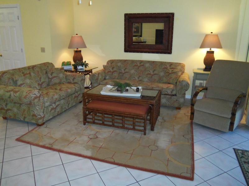 Living Room - 2br/2.5ba Condo in Panama City Beach, Florida - Panama City Beach - rentals