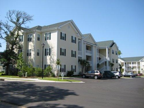 Front Left of Building 16 - Nice / Affordable 3 BR North Myrtle Beach Condo - North Myrtle Beach - rentals