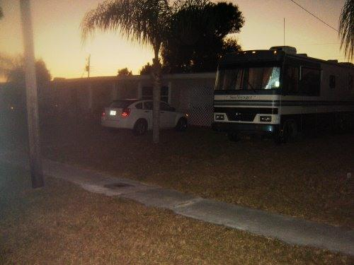 Sunset over front of house w/RV parking - ***Spacious 1 bedroom home - Port Charlotte - rentals