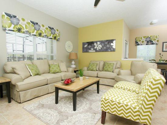Stunning 5 Bedroom 4 Bath Townhome in Paradise Palms Resort. 8980MPR - Image 1 - Orlando - rentals