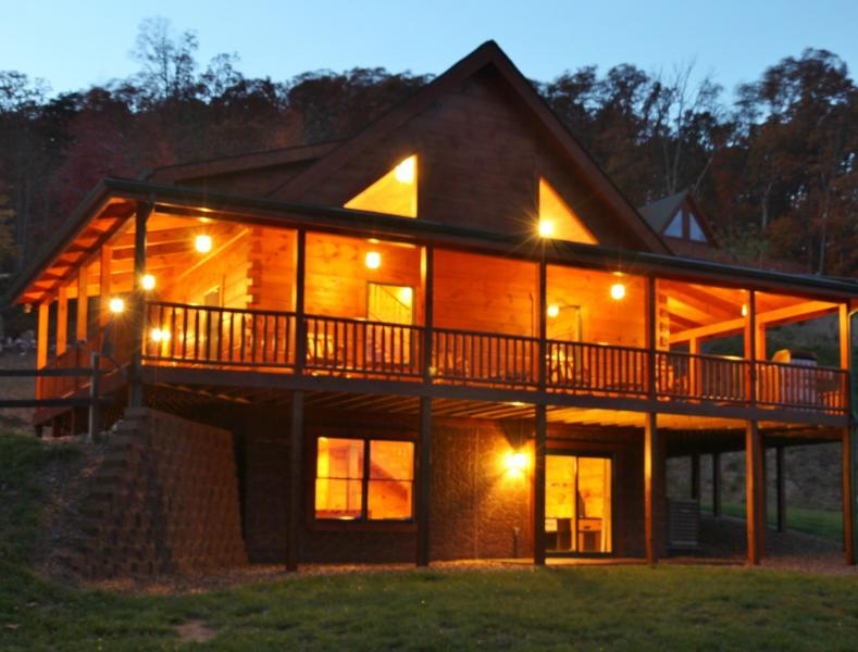 Absolute Perfect Escape 2 Log Cabin Luray Virginia - Luray Vacation Rental Cabin Hot Tub Mountain Views - Luray - rentals
