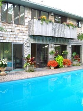 Multiple sliding doors overlooking  pool - Labor Day, September & October Special Beach Days! - Sayville - rentals
