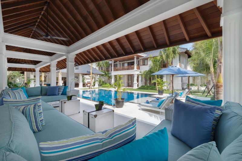 "Lounge area by the pool at Windu Asri by Windu Villas - Villa Windu Asri: ""Raffles Style"" 6 bedroom Luxury - Seminyak - rentals"